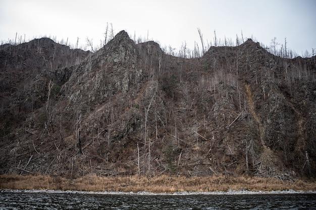 Vallei van de bergrivier anyuy. khabarovsk-grondgebied in het verre oosten van rusland.