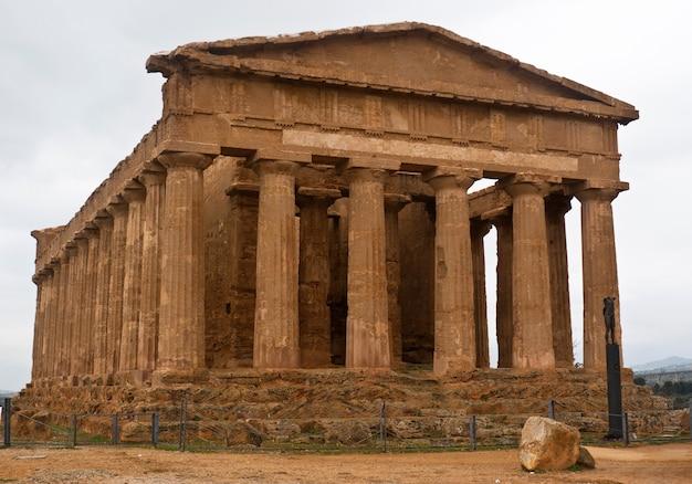Vallei van de tempels, agrigento, sicilië, italië.