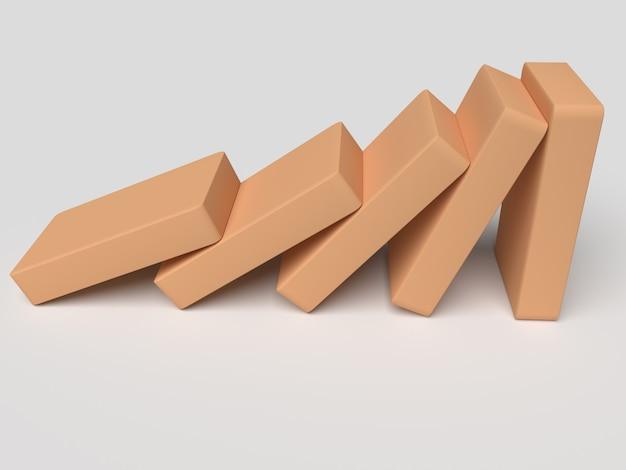 Vallende blokjes op elkaar illustreren trends