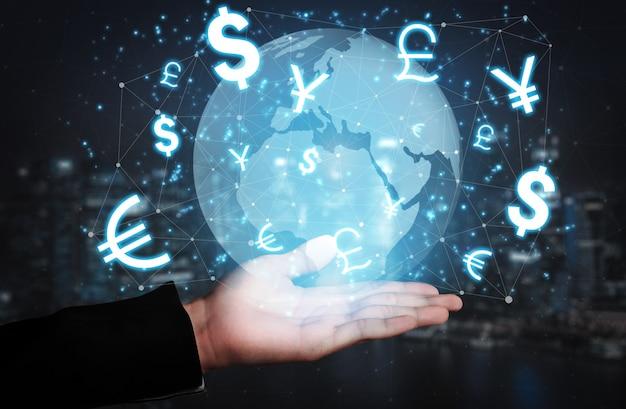 Valutawissel wereldwijde buitenlandse geldfinanciering.