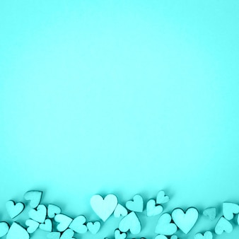 Van achtergrond heilige valentine hartbodem. kleur aquamarijn, aqua.