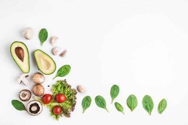 Van boven gesorteerd groenten