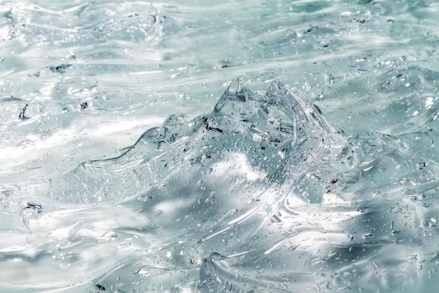 Van bovenaf close-up van hydroalcoholische gel