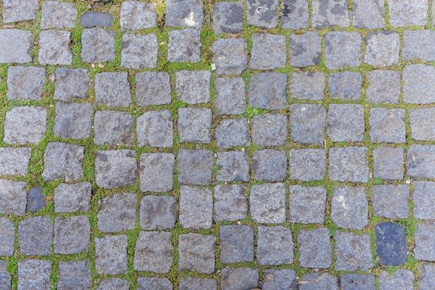 Van de achtergrond wegsteen textuur, de textuur hoogste mening van de straattegel