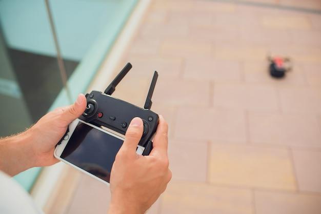 Van de de hobbyvrije tijd van de afstandsbedieninghommel het concept van de de technologieinnovatie.