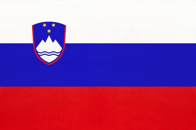 Van de de stoffenvlag van slovenië de nationale textielachtergrond, symbool van wereld europees land