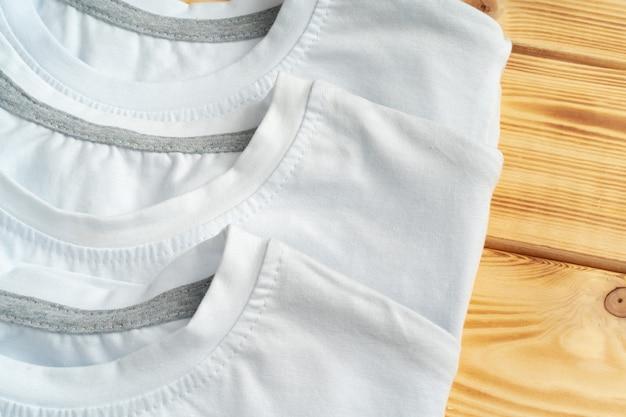 Van een witte kleur t-shirt, kopieer ruimte