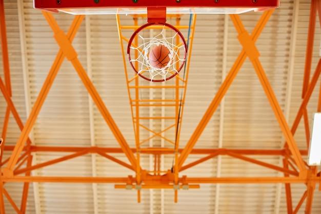 Van onderen basketbaldoel