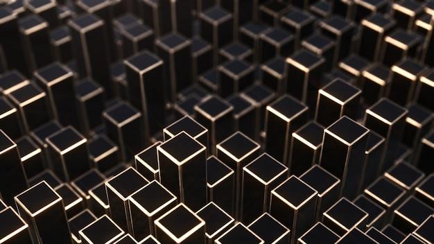 Van zwarte en gouden vierkanten