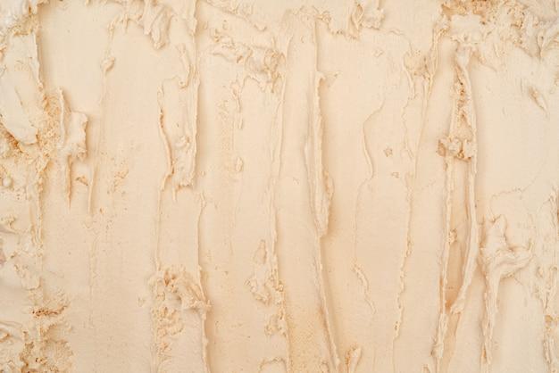 Vanille-ijs textuur. bovenaanzicht. heerlijke koele verwennerij.