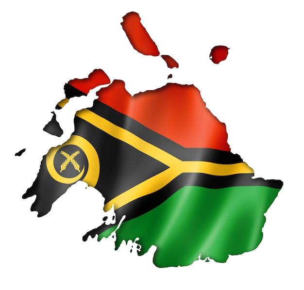 Vanuatu vlag kaart
