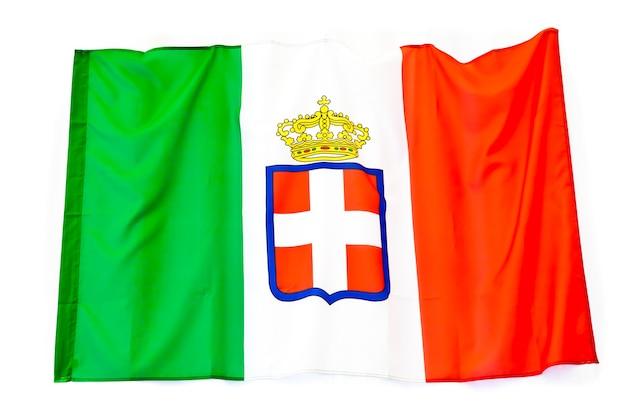 Variant vlag van het koninkrijk italië, vanaf 1861 aangenomen, savoy royal family
