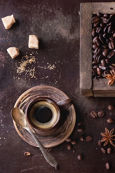 Variatie van koffiebonen