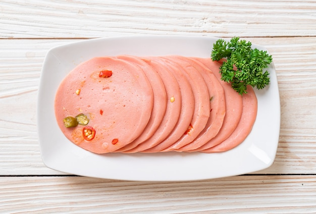 Varkensvlees bologna met spaanse pepers
