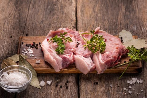 Varkensvlees rauw vlees