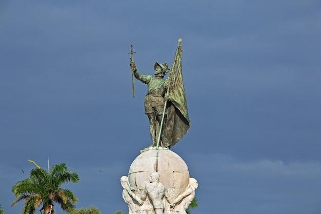 Vasco nunez de balboa in panama-stad, midden-amerika