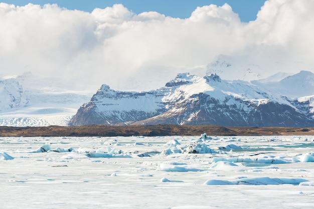 Vatnajokull-gletsjer ijsland