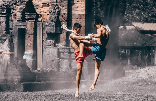 Vechtsporten van muay thai, thai boxing, muay thai