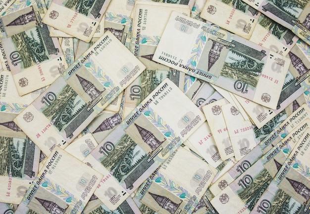 Veel bankbiljetten achtergrond