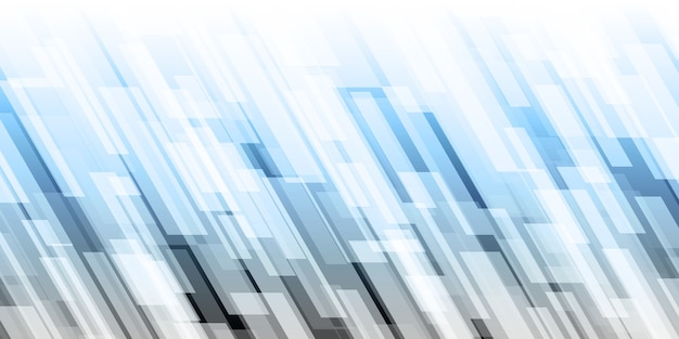 Veel geanimeerde 3d-lijnen en lichte vierkanten verschillende kleuren abstracte technische achtergrond