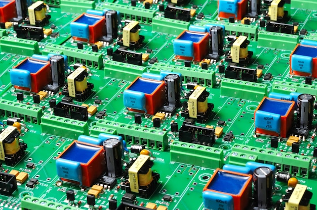 Veel groene pcb-microschakelingen