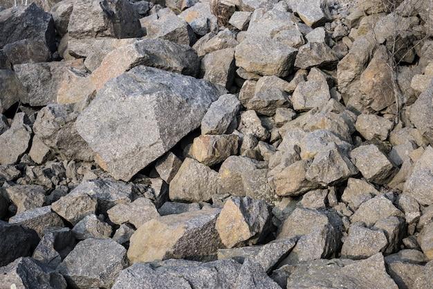 Veel grote stenen close-up.