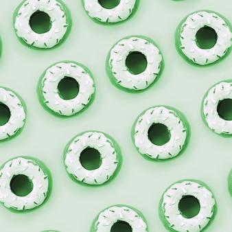 Veel kleine plastic donuts