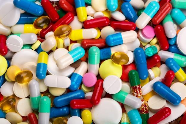 Veel kleurrijke medicijnen