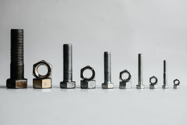 Veel moeren ringen en bouten voor close-up reparaties
