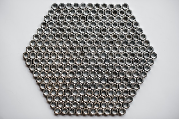 Veel moeren ringen en bouten voor close-up reparaties.