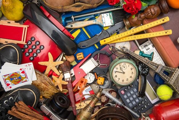 Veel objecten in chaos