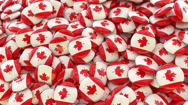Veel pillen met de canadese vlag