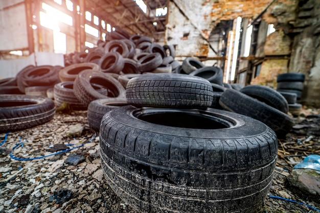 Veel rubberen wielen