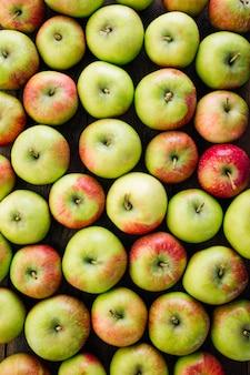 Veel verse groene appels, bovenaanzicht