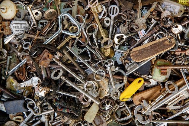 Veel vintage sleutels.