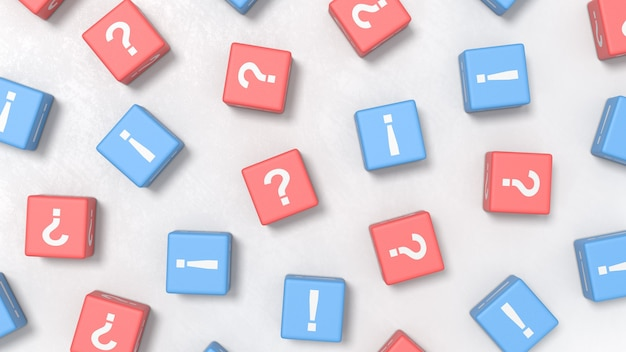 Veel vragen en veel antwoorden illustratieconcepten