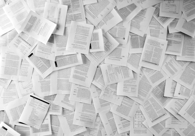 Veel zakelijke documenten