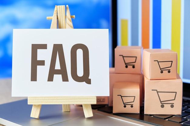 Veelgestelde vragen faq concept voor koerier en transportbedrijf.