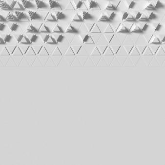 Veelhoekige 3d-overvolle vormen achtergrond