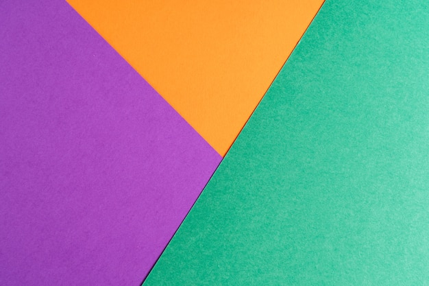 Veelkleurig abstract papier van pastelkleuren, met geometrische vorm, plat.