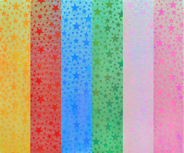 Veelkleurig van ster schittert streeptextuur, gifttextuur of vieringsachtergrond.