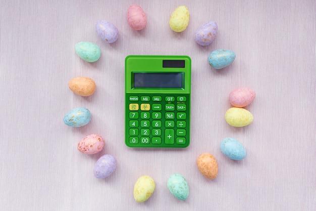 Veelkleurige eieren decoratie