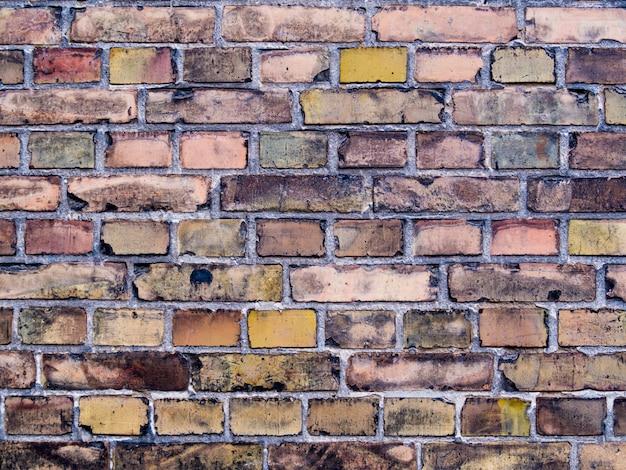 Veelkleurige oude en grunge bakstenen muur