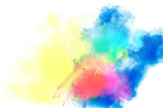 Veelkleurige poederexplosie