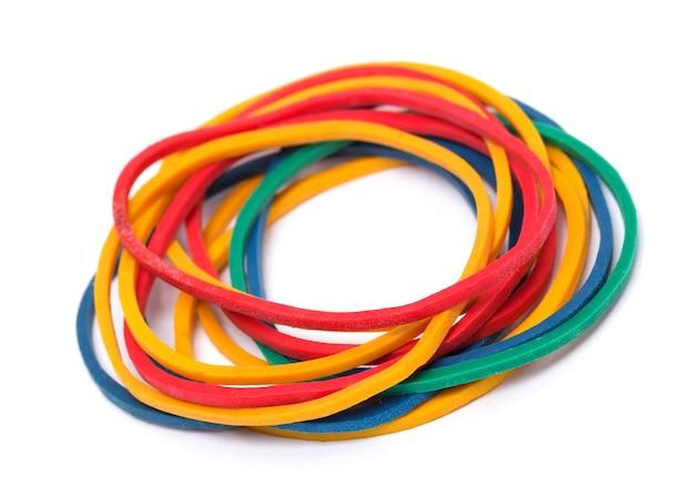 Veelkleurige rubberen geldbanden