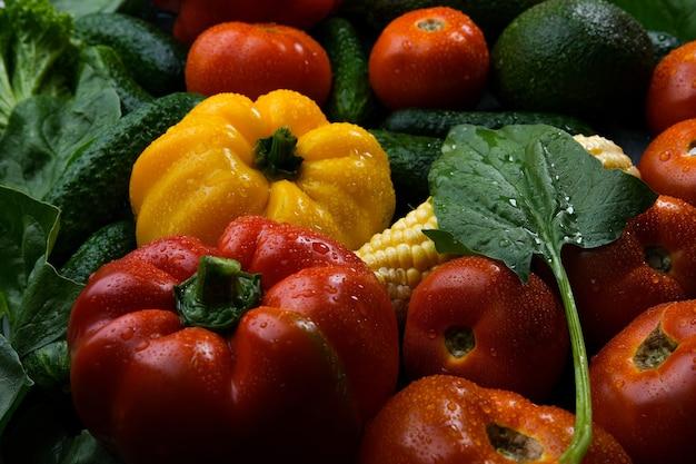 Veelkleurige verse groenten