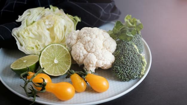 Veganistisch en vegetarisch dieet gezond voedsel.