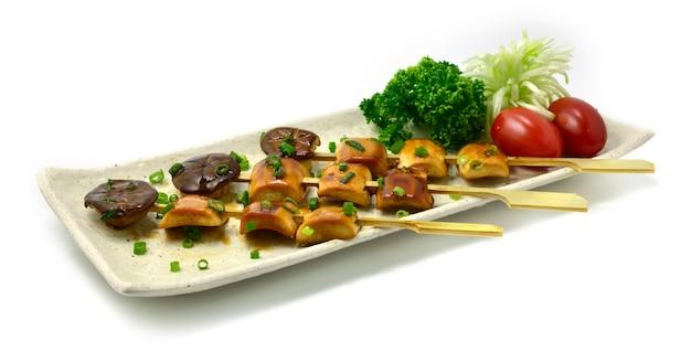Veganistische yakitori japanese food fusion-stijl perfecte bbq