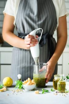 Vegetarisch, schoon eten levensstijl concept