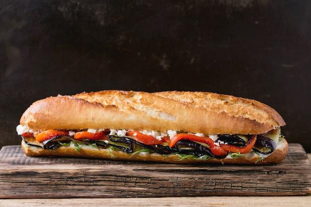 Vegetarische baguettesandwich